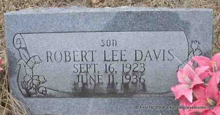 DAVIS, ROBERT LEE - Scott County, Arkansas | ROBERT LEE DAVIS - Arkansas Gravestone Photos