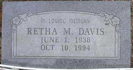 DAVIS, RETHA M - Scott County, Arkansas | RETHA M DAVIS - Arkansas Gravestone Photos