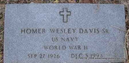 DAVIS, SR  (VETERAN WWII), HOMER WESLEY - Scott County, Arkansas | HOMER WESLEY DAVIS, SR  (VETERAN WWII) - Arkansas Gravestone Photos