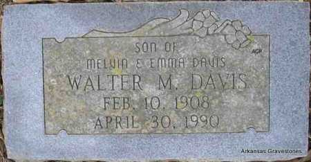 DAVIS, WALTER M - Scott County, Arkansas | WALTER M DAVIS - Arkansas Gravestone Photos