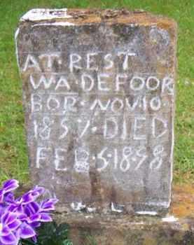 DEFOOR, W A - Scott County, Arkansas | W A DEFOOR - Arkansas Gravestone Photos