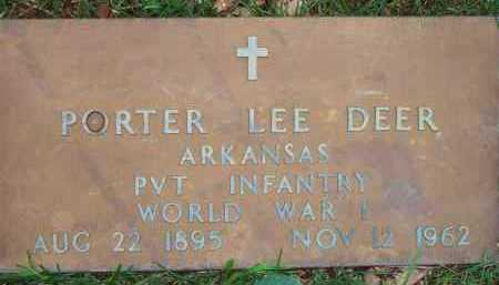 DEER  (VETERAN WWI), PORTER LEE - Scott County, Arkansas | PORTER LEE DEER  (VETERAN WWI) - Arkansas Gravestone Photos