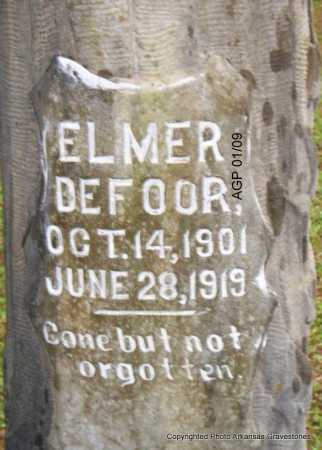 DEFOOR, ELMER - Scott County, Arkansas | ELMER DEFOOR - Arkansas Gravestone Photos