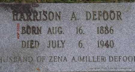 DEFOOR, HARRISON A - Scott County, Arkansas | HARRISON A DEFOOR - Arkansas Gravestone Photos