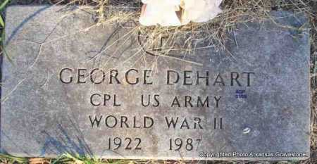 DEHART  (VETERAN WWII), GEORGE - Scott County, Arkansas | GEORGE DEHART  (VETERAN WWII) - Arkansas Gravestone Photos