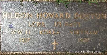 DENTON  (VETERAN 3 WARS), HILDON HOWARD - Scott County, Arkansas | HILDON HOWARD DENTON  (VETERAN 3 WARS) - Arkansas Gravestone Photos
