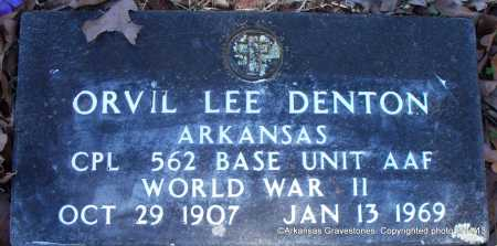DENTON  (VETERAN WWII), ORVIL LEE - Scott County, Arkansas | ORVIL LEE DENTON  (VETERAN WWII) - Arkansas Gravestone Photos