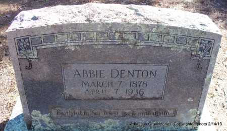 DENTON, ABBIE - Scott County, Arkansas | ABBIE DENTON - Arkansas Gravestone Photos