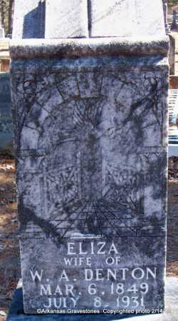DENTON, ELIZA - Scott County, Arkansas | ELIZA DENTON - Arkansas Gravestone Photos