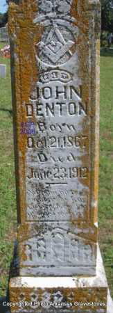 DENTON, JOHN - Scott County, Arkansas | JOHN DENTON - Arkansas Gravestone Photos