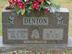 DENTON, KATIE - Scott County, Arkansas | KATIE DENTON - Arkansas Gravestone Photos