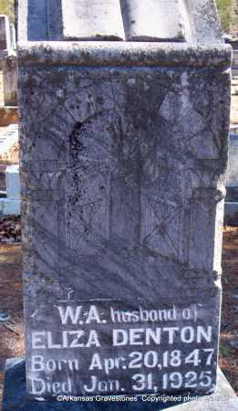 DENTON, W A - Scott County, Arkansas   W A DENTON - Arkansas Gravestone Photos
