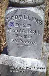 DOLLINS, T  F (CLOSEUP) - Scott County, Arkansas | T  F (CLOSEUP) DOLLINS - Arkansas Gravestone Photos