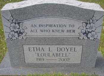 "DOYEL, ETHA L  ""LOULABELL"" - Scott County, Arkansas | ETHA L  ""LOULABELL"" DOYEL - Arkansas Gravestone Photos"