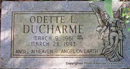 DUCHARME, ODETTE LOUISE - Scott County, Arkansas | ODETTE LOUISE DUCHARME - Arkansas Gravestone Photos