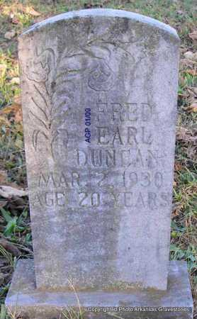 DUNCAN, FRED EARL - Scott County, Arkansas | FRED EARL DUNCAN - Arkansas Gravestone Photos