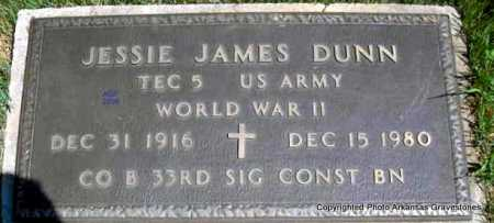 DUNN  (VETERAN WWII), JESSIE JAMES - Scott County, Arkansas | JESSIE JAMES DUNN  (VETERAN WWII) - Arkansas Gravestone Photos