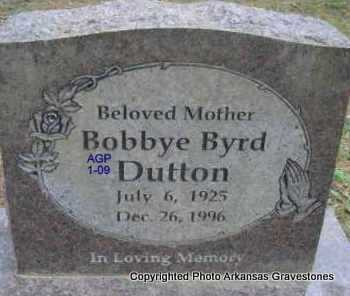 DUTTON, BOBBYE - Scott County, Arkansas | BOBBYE DUTTON - Arkansas Gravestone Photos