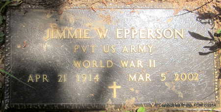 EPPERSON  (VETERAN WWII), JIMMIE W - Scott County, Arkansas | JIMMIE W EPPERSON  (VETERAN WWII) - Arkansas Gravestone Photos