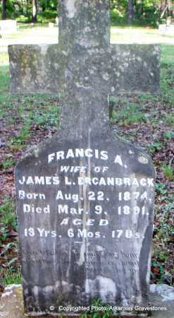 ERCANBRACK, FRANCIS A - Scott County, Arkansas | FRANCIS A ERCANBRACK - Arkansas Gravestone Photos