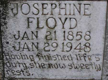 FLOYD, JOSEPHINE  ( CLOSEUP) - Scott County, Arkansas | JOSEPHINE  ( CLOSEUP) FLOYD - Arkansas Gravestone Photos