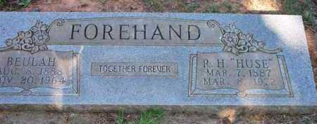 "FOREHAND, R  H ""HUSE"" - Scott County, Arkansas 