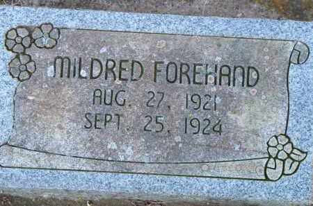 FOREHAND, MILDRED - Scott County, Arkansas | MILDRED FOREHAND - Arkansas Gravestone Photos