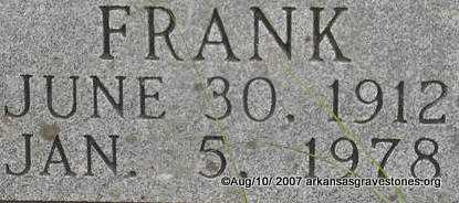 FORREST, FRANK  (CLOSEUP) - Scott County, Arkansas | FRANK  (CLOSEUP) FORREST - Arkansas Gravestone Photos