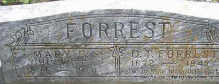 FORREST, MARY F - Scott County, Arkansas | MARY F FORREST - Arkansas Gravestone Photos