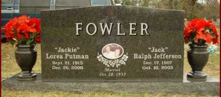 "PUTMAN FOWLER, LOREA ""JACKIE"" - Scott County, Arkansas 