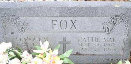 FOX, EDWARD M - Scott County, Arkansas | EDWARD M FOX - Arkansas Gravestone Photos