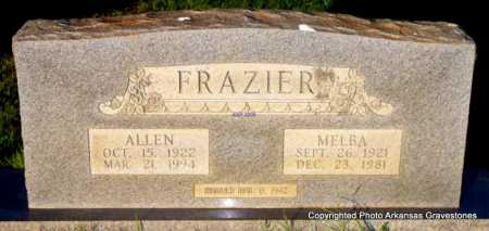 FRAZIER, ALLEN - Scott County, Arkansas | ALLEN FRAZIER - Arkansas Gravestone Photos