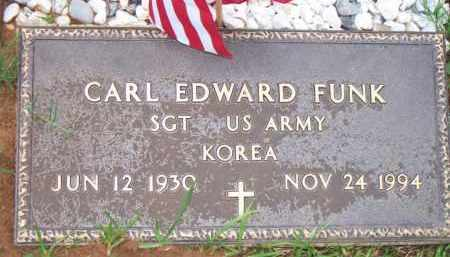 FUNK  (VETERAN KOR), CARL EDWARD - Scott County, Arkansas | CARL EDWARD FUNK  (VETERAN KOR) - Arkansas Gravestone Photos