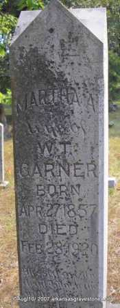 GARNER, MARTHA A - Scott County, Arkansas | MARTHA A GARNER - Arkansas Gravestone Photos