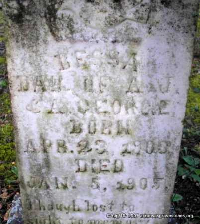 GEORGE, BESSA - Scott County, Arkansas | BESSA GEORGE - Arkansas Gravestone Photos
