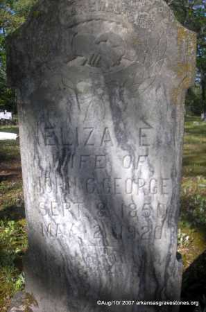 GEORGE, ELIZA E - Scott County, Arkansas | ELIZA E GEORGE - Arkansas Gravestone Photos