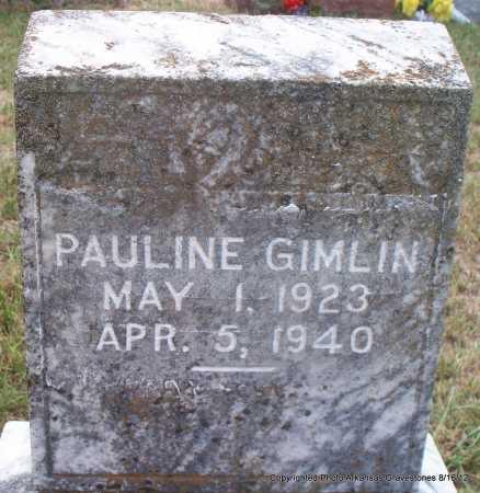 GIMLIN, PAULINE - Scott County, Arkansas   PAULINE GIMLIN - Arkansas Gravestone Photos