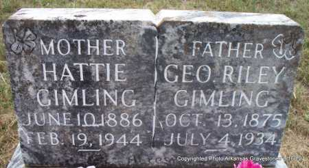 GIMLING, GEORGE RILEY - Scott County, Arkansas | GEORGE RILEY GIMLING - Arkansas Gravestone Photos