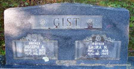 GIST, JOSEPH A - Scott County, Arkansas | JOSEPH A GIST - Arkansas Gravestone Photos