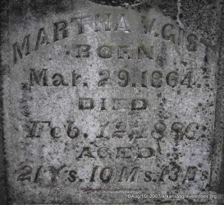 GIST, MARTHA V - Scott County, Arkansas | MARTHA V GIST - Arkansas Gravestone Photos