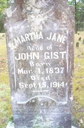 GIST, MARTHA JANE - Scott County, Arkansas | MARTHA JANE GIST - Arkansas Gravestone Photos
