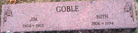 GOBLE, JIM - Scott County, Arkansas | JIM GOBLE - Arkansas Gravestone Photos