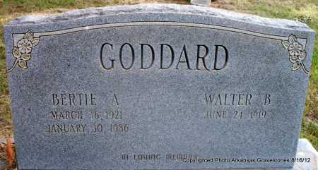 GODDARD, BERTIE A - Scott County, Arkansas | BERTIE A GODDARD - Arkansas Gravestone Photos