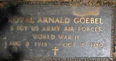 "GOEBEL  (VETERAN WWII), ROYAL ARNALD ""ROY"" - Scott County, Arkansas 
