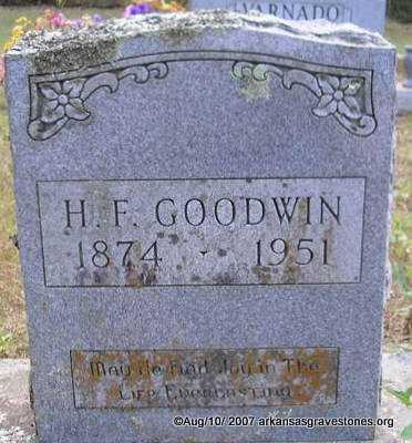 GOODWIN, H  F - Scott County, Arkansas | H  F GOODWIN - Arkansas Gravestone Photos