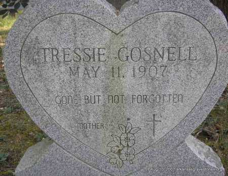 GOSNELL, TRESSIE - Scott County, Arkansas | TRESSIE GOSNELL - Arkansas Gravestone Photos