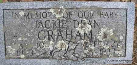 GRAHAM, JACKIE DEAN - Scott County, Arkansas | JACKIE DEAN GRAHAM - Arkansas Gravestone Photos