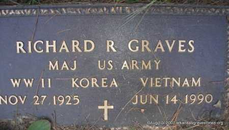 "GRAVES  (VETERAN 3 WARS), RICHARD R "" DICK"" - Scott County, Arkansas 