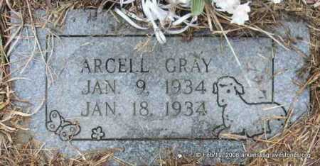 GRAY, ARCELL - Scott County, Arkansas | ARCELL GRAY - Arkansas Gravestone Photos