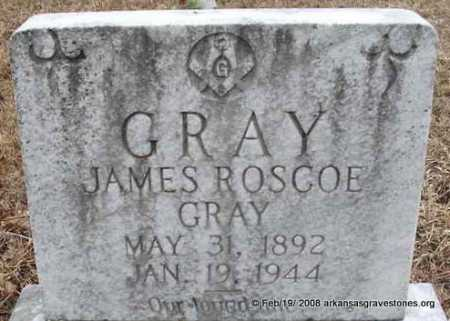 GRAY, JAMES ROSCOE - Scott County, Arkansas | JAMES ROSCOE GRAY - Arkansas Gravestone Photos